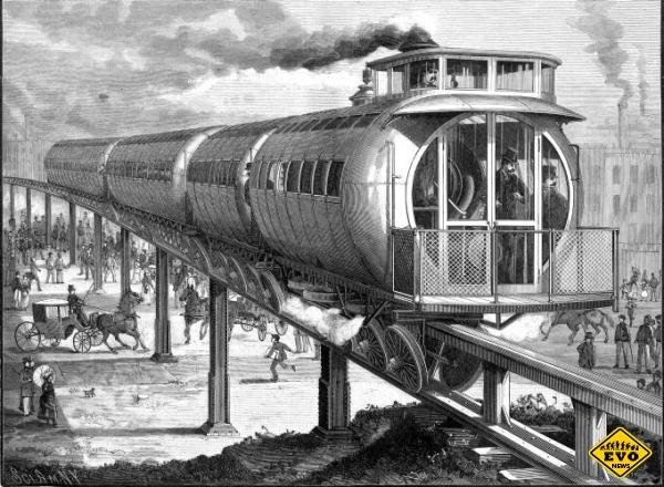 Joe V. Meigs запатентовал - необычная железная дорога