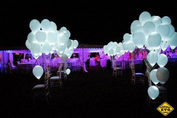 Шары на свадьбу, которые светятся и создают теплую атмосферу