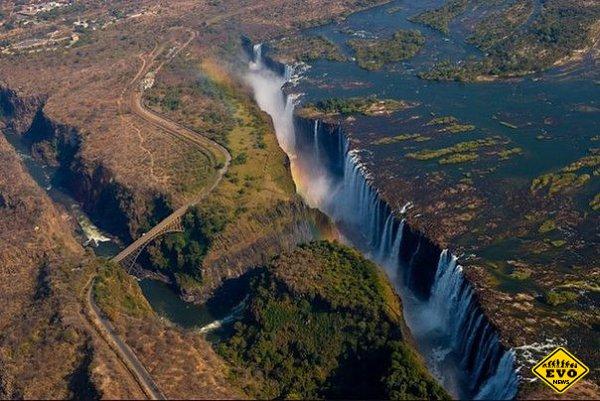 Красота водопада Виктория, Зимбабве