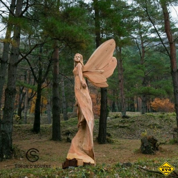 Скульптуры сделанные бензопилой