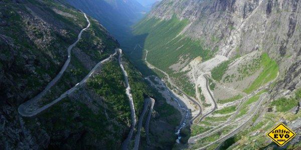 Красивая и непредсказуемая дорога в Норвегии