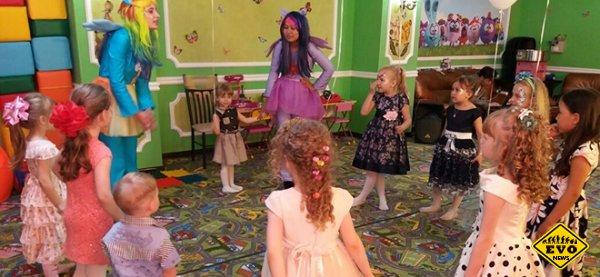 Организация праздника в детском кафе