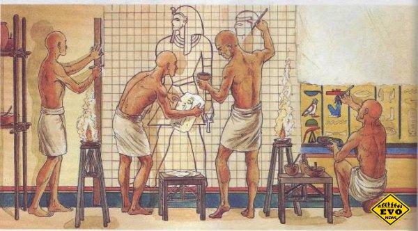 Из чего в древности делали краски