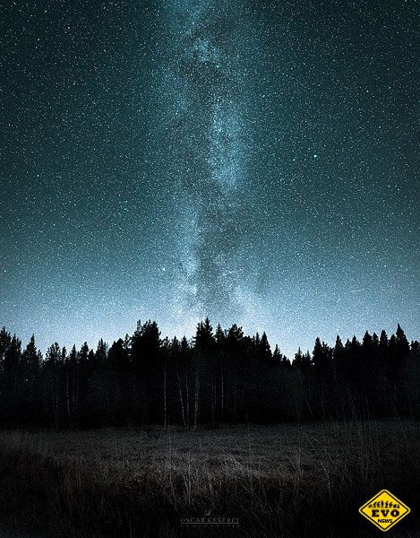 Финляндия, ночь, звёзды и неспящий фотограф