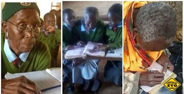 Никогда не поздно: 90-летняя кенийка пошла в 1 класс